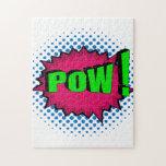Pop Art Comic Pow! Jigsaw Puzzles