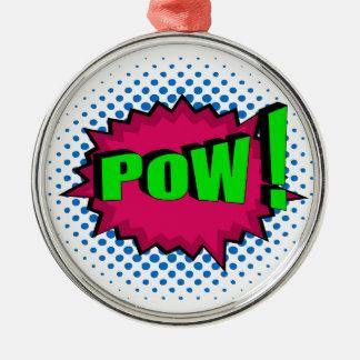 Pop Art Comic Pow! Ornament