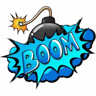 Pop Art Comic Style Bomb Boom! Cutout