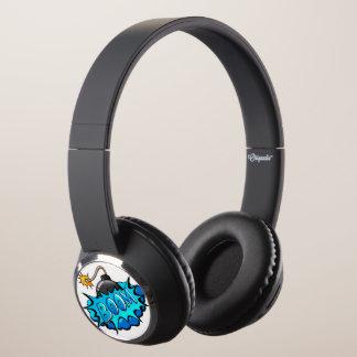 Pop Art Comic Style Bomb Boom! Headphones