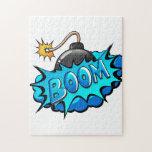 Pop Art Comic Style Bomb Boom! Jigsaw Puzzles