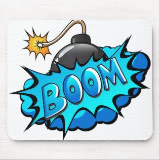 Pop Art Comic Style Bomb Boom! Mouse Pad