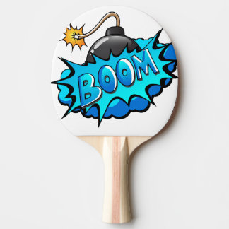 Pop Art Comic Style Bomb Boom! Ping Pong Paddle
