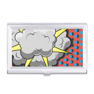Pop Art Comic Style Explosion Business Card Case