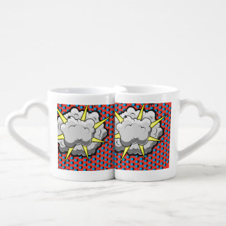 Pop Art Comic Style Explosion Couples Coffee Mug