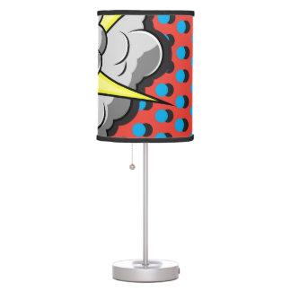 Pop Art Comic Style Explosion Desk Lamp