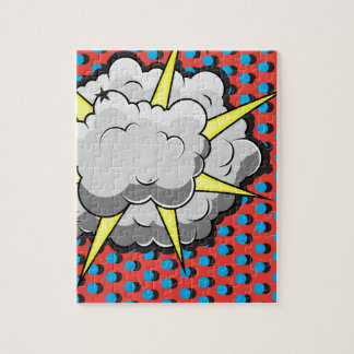 Pop Art Comic Style Explosion Jigsaw Puzzle