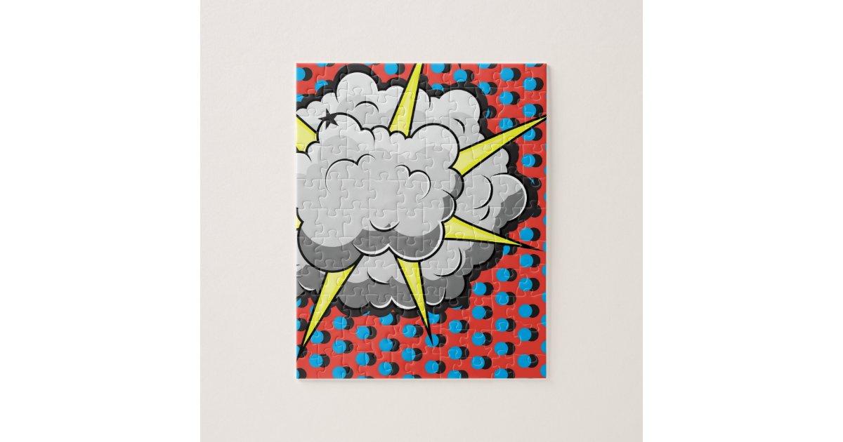 Pop Art Comic Style Explosion Jigsaw Puzzle   Zazzle.com