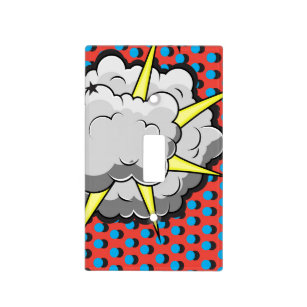 Pop Art Comic Style Explosion Light Switch Cover