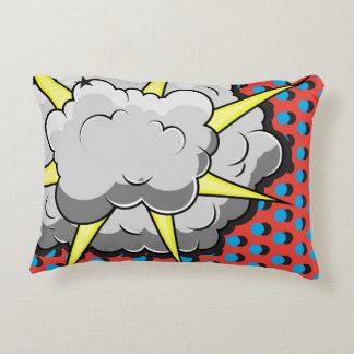 Pop Art Comic Style Explosion Accent Pillow