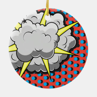 Pop Art Comic Style Explosion Christmas Tree Ornaments