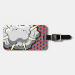 Pop Art Comic Style Explosion Tag For Luggage