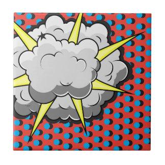 Pop Art Comic Style Explosion Tile