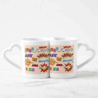 Pop Art Comic Style Ha Ha Ha! Coffee Mug Set