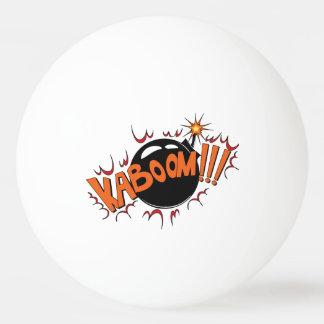 Pop Art Comic Style KaBoom! Ping-Pong Ball