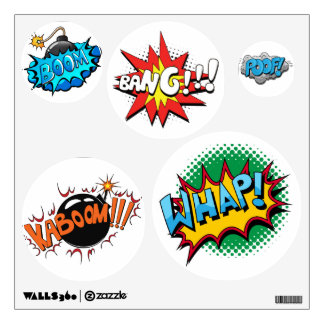 Pop Art Comic Style Pop! Wall Sticker