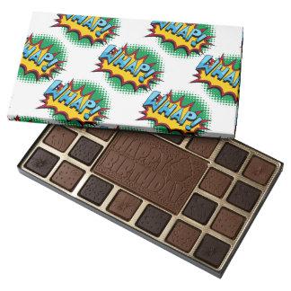 Pop Art Comic Style Whap! 45 Piece Box Of Chocolates