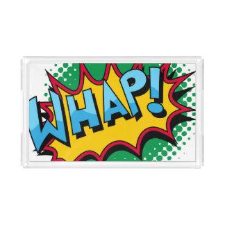 Pop Art Comic Style Whap! Acrylic Tray