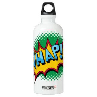 Pop Art Comic Style Whap! Aluminum Water Bottle