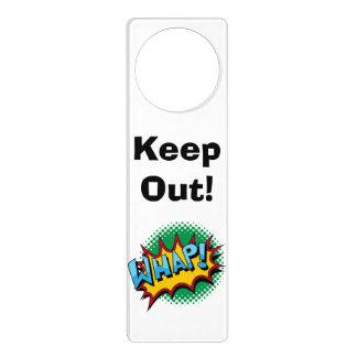 Pop Art Comic Style Whap! Door Hanger
