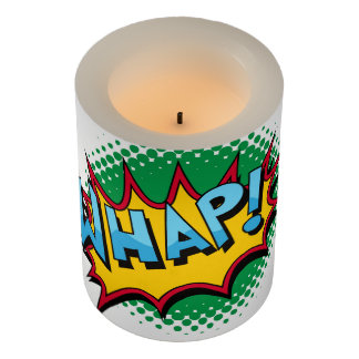 Pop Art Comic Style Whap! Flameless Candle