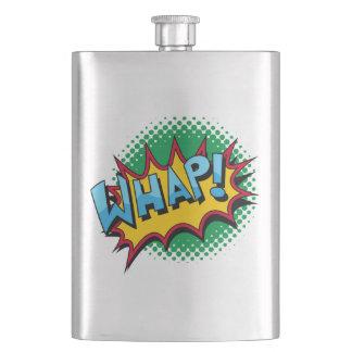 Pop Art Comic Style Whap! Flasks
