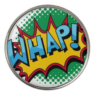 Pop Art Comic Style Whap! Golf Ball Marker