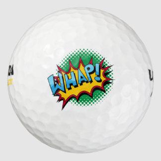 Pop Art Comic Style Whap! Golf Balls