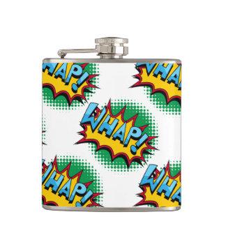 Pop Art Comic Style Whap! Hip Flask