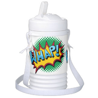 Pop Art Comic Style Whap! Igloo Beverage Cooler