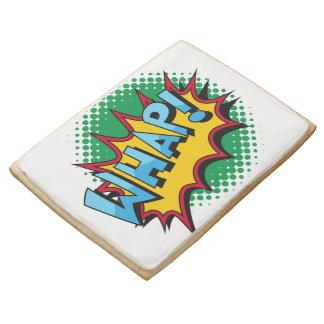 Pop Art Comic Style Whap! Jumbo Shortbread Cookie