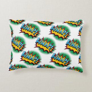 Pop Art Comic Style Whap! Accent Pillow
