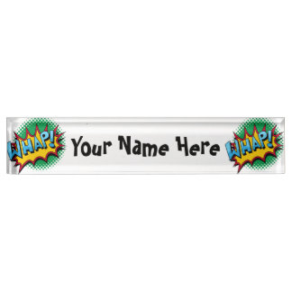 Pop Art Comic Style Whap! Nameplate