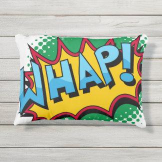 Pop Art Comic Style Whap! Outdoor Pillow