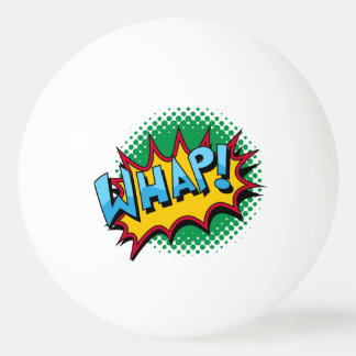 Pop Art Comic Style Whap! Ping-Pong Ball