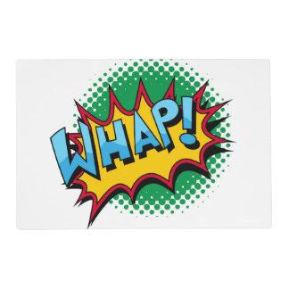 Pop Art Comic Style Whap! Placemat