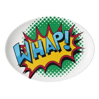 Pop Art Comic Style Whap! Porcelain Serving Platter