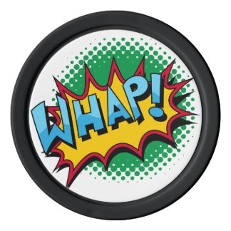Pop Art Comic Style Whap! Set Of Poker Chips