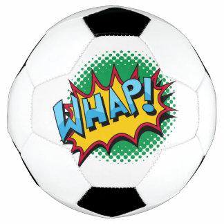 Pop Art Comic Style Whap! Soccer Ball