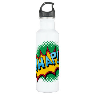 Pop Art Comic Style Whap! Stainless Steel Water Bottle
