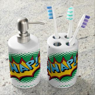 Pop Art Comic Style Whap! Toothbrush Holders