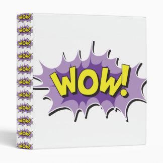 Pop Art Comic Style Wow 3 Ring Binder