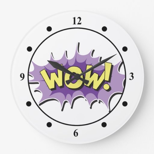 Pop Art Comic Style Wow Clocks Zazzle