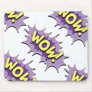 Pop Art Comic Style Wow Mouse Pad