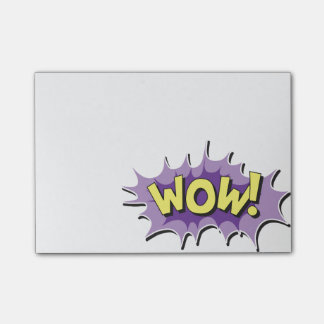 Pop Art Comic Style Wow Post-it Notes