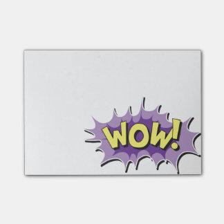 Pop Art Comic Style Wow Post-it® Notes