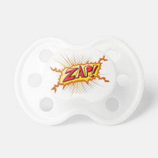 Pop Art Comic Style Zap! Pacifier