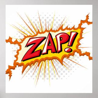 Pop Art Comic Style Zap! Poster