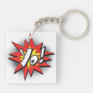 Pop Art Comic Yo! Acrylic Keychain