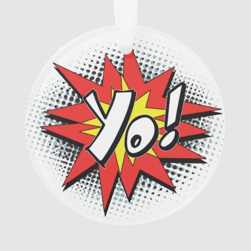 Pop art comic yo ornament zazzle for Decor yo pops
